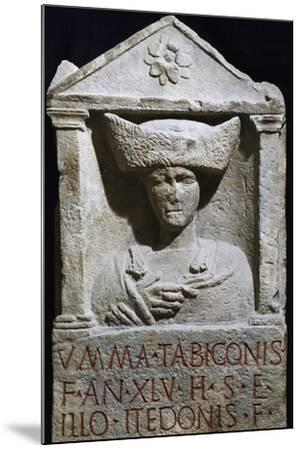Funerary Stele of Umma in Pannonian Costume from Au Am Leithaberg, Austria--Mounted Giclee Print