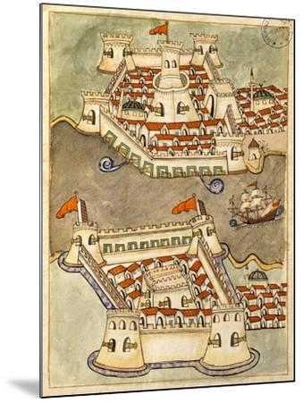 Two Large Fortresses on the Bosphorus; One on the Greek Side and the Other in Anatolia--Mounted Giclee Print
