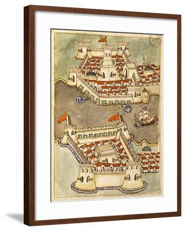 Two Large Fortresses on the Bosphorus; One on the Greek Side and the Other in Anatolia--Framed Giclee Print