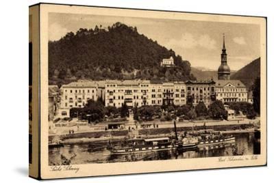 Bad Schandau, Elbe, Dampfschiff Leitmeritz, Ort--Stretched Canvas Print