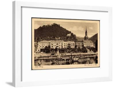Bad Schandau, Elbe, Dampfschiff Leitmeritz, Ort--Framed Giclee Print