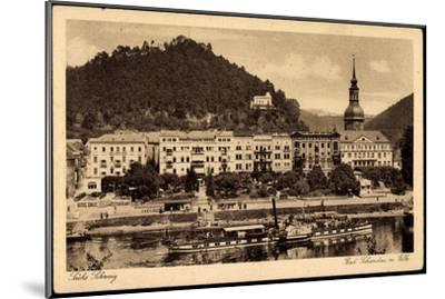 Bad Schandau, Elbe, Dampfschiff Leitmeritz, Ort--Mounted Giclee Print