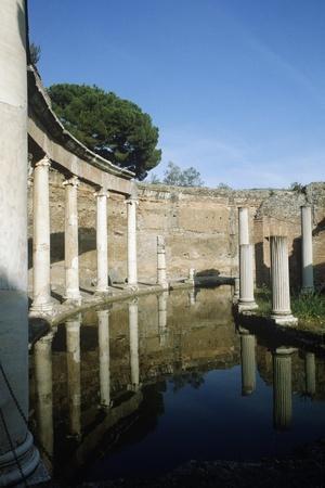 Italy, Tivoli, the Maritime Theatre at Hadrian's Villa--Framed Giclee Print