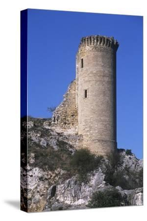 France, Provence-Alpes-Côte D'Azur, Ruins of Hers Castle--Stretched Canvas Print