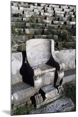 Theatre in Priene, Turkey--Mounted Giclee Print