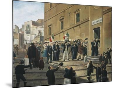 Expedition of Thousand, Masses Celebrate Arrival of Garibaldi's Supporters in Termini Imerese--Mounted Giclee Print