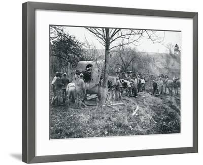 French Battery--Framed Giclee Print