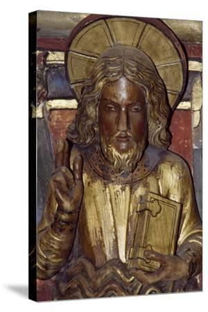 Holy Apostle, Wooden Relief from the Upper Chapel of the Holy Chapel, Paris, Ile-De-France, France--Stretched Canvas Print