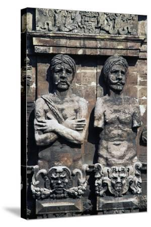 Telamons of Two Moors, Detail from Porta Nuova, Palermo, Sicily, Italy--Stretched Canvas Print