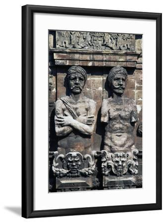 Telamons of Two Moors, Detail from Porta Nuova, Palermo, Sicily, Italy--Framed Giclee Print