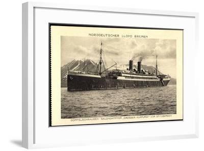 Norddeutscher Lloyd Bremen, Dampfer Großer Kurfürst--Framed Giclee Print
