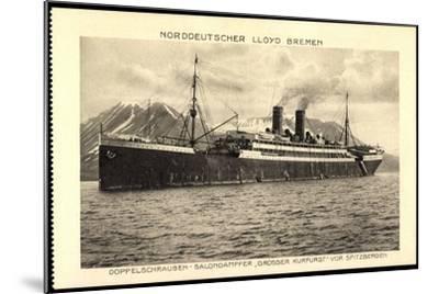 Norddeutscher Lloyd Bremen, Dampfer Großer Kurfürst--Mounted Giclee Print