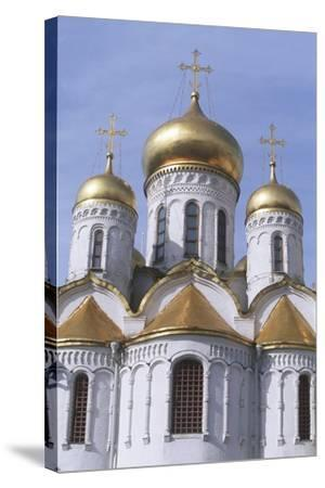 Russia, Moscow Region, Moscow, Kremlin, Cathedral of Annunciation--Stretched Canvas Print