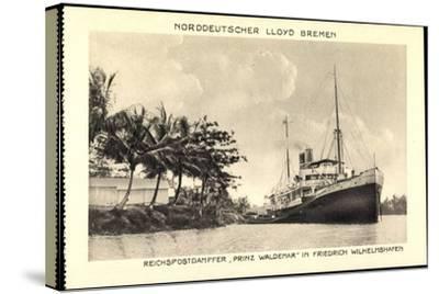 Norddeutscher Lloyd Bremen, Dampfer Prinz Waldemar--Stretched Canvas Print