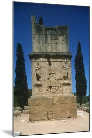 Spain, Catalonia, Tarragona, Tower of the Scipios--Mounted Giclee Print