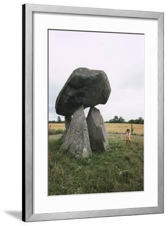 Ireland, County Louth, Ballymascanlon, Proleek Dolmen--Framed Giclee Print