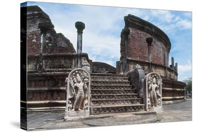 Sri Lanka, Polonnaruwa, Vatadage or Circular Relic House--Stretched Canvas Print