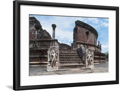 Sri Lanka, Polonnaruwa, Vatadage or Circular Relic House--Framed Giclee Print
