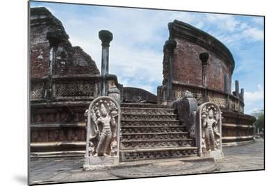 Sri Lanka, Polonnaruwa, Vatadage or Circular Relic House--Mounted Giclee Print