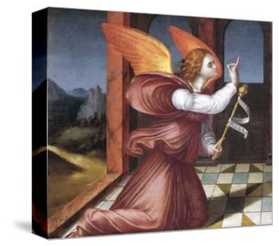 The Archangel Gabriel, Detail from the Annunciation--Stretched Canvas Print