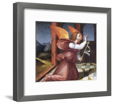 The Archangel Gabriel, Detail from the Annunciation--Framed Giclee Print