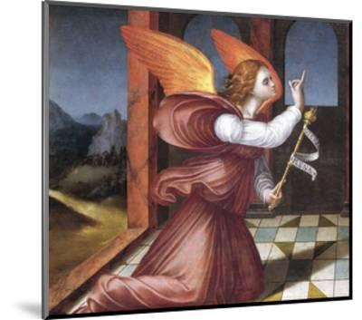 The Archangel Gabriel, Detail from the Annunciation--Mounted Giclee Print