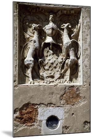 Coat of Arms of Magdelaine-Ragny, Detail from South Facade of Chateau De Corcelles--Mounted Giclee Print