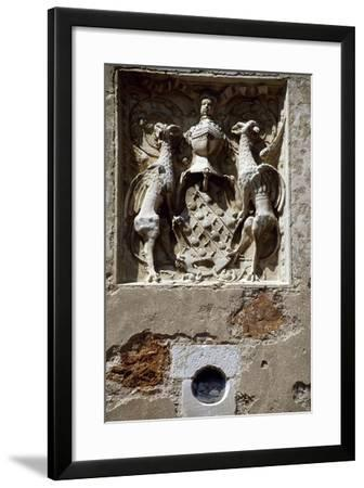 Coat of Arms of Magdelaine-Ragny, Detail from South Facade of Chateau De Corcelles--Framed Giclee Print