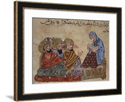 13th Century Turkey Miniature Depicting Socrates Discussing Philosophy with His Disciples--Framed Giclee Print