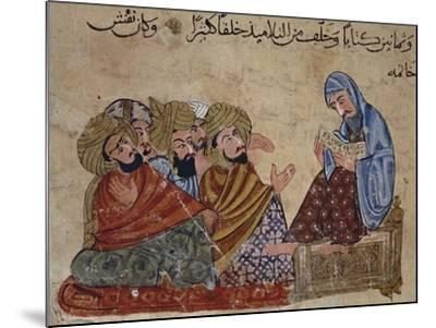 13th Century Turkey Miniature Depicting Socrates Discussing Philosophy with His Disciples--Mounted Giclee Print