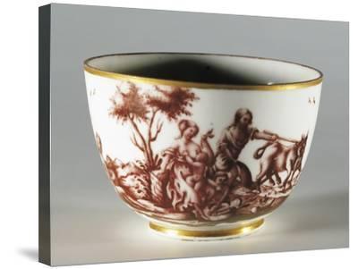 Cup, 1770, Porcelain, Ginori Manufacture, Doccia, Sesto Fiorentino, Tuscany, Italy--Stretched Canvas Print