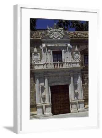 Entrance of Hospital De Las Cinco Llagas, Seville, Andalusia, Spain--Framed Giclee Print
