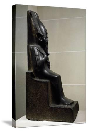 God Osiris, Diorite Statue, New Kingdom, Third Intermediate Period--Stretched Canvas Print