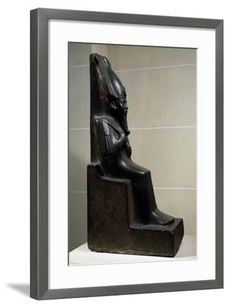 God Osiris, Diorite Statue, New Kingdom, Third Intermediate Period--Framed Giclee Print