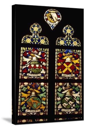 Stained-Glass Window of Apse of Saint Bavokerk Church or Grote Kerk, Haarlem, Netherlands--Stretched Canvas Print