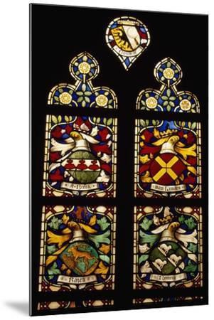 Stained-Glass Window of Apse of Saint Bavokerk Church or Grote Kerk, Haarlem, Netherlands--Mounted Giclee Print