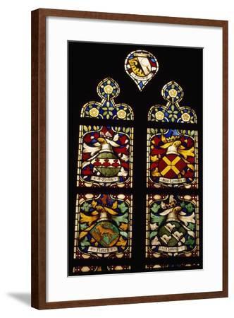 Stained-Glass Window of Apse of Saint Bavokerk Church or Grote Kerk, Haarlem, Netherlands--Framed Giclee Print