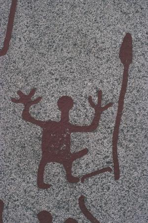 Sweden, Rock Carvings of Tanum or Tanumshede--Framed Giclee Print