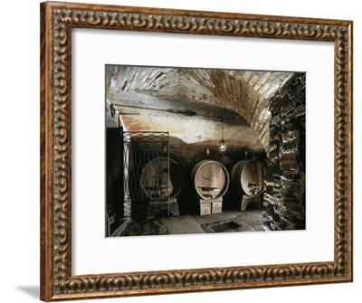 Italy, Brescia, Castle of Bornato, Wine Cellar--Framed Giclee Print