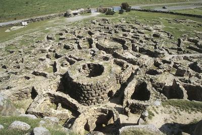 Italy, Sardinia Region, Province Medio Campidano, Su Nuraxi at Barumini, Nuraghic Ruins--Framed Giclee Print