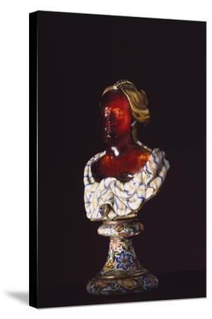 Female Bust, Hyacinth, Gold, Enamel, Diamonds, Goldsmith Art--Stretched Canvas Print