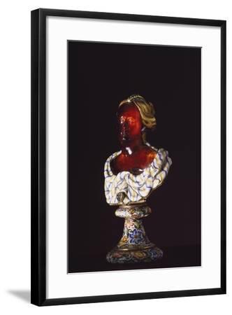 Female Bust, Hyacinth, Gold, Enamel, Diamonds, Goldsmith Art--Framed Giclee Print
