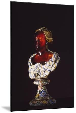 Female Bust, Hyacinth, Gold, Enamel, Diamonds, Goldsmith Art--Mounted Giclee Print