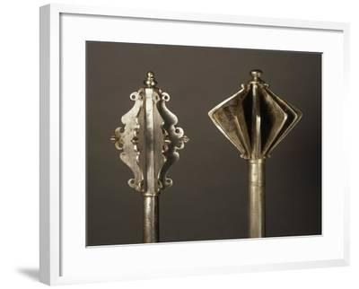 On Left, Mace in Steel, Made in Germany in 1550, on Right, Mace in Steel, Made in Hungary--Framed Giclee Print