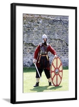 5th Century Romano British Warrior, Re-Enactment--Framed Giclee Print