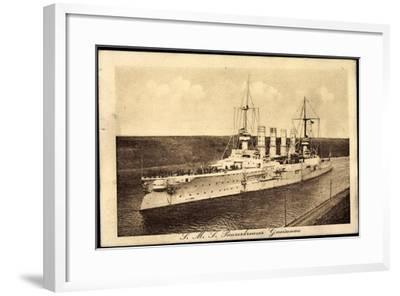 Blick Auf Den Dt. Panzerkreuzer Sms Gneisenau--Framed Giclee Print