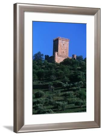 Spain, Extremadura, Nogales, Castle, Detail of Tower--Framed Giclee Print