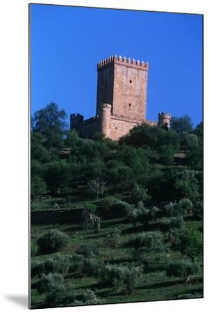 Spain, Extremadura, Nogales, Castle, Detail of Tower--Mounted Giclee Print