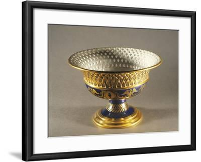 High-Footed Basket Centerpiece from Service of Grand Duchess Elisa Baciocchi, Porcelain, 1809-1810--Framed Giclee Print