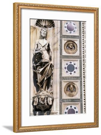 Certosa Di Pavia, Facade, Saint John the Baptist, Sculpture, Pavia, Lombardy, Italy--Framed Giclee Print